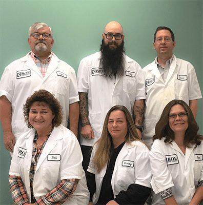 Staff at ROE Dental Laboratory Jamestown